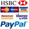 We accept Major credit and debit cards and PayPal