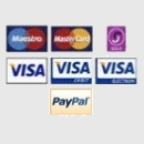 We accept Major credit and debit cards, and PayPal